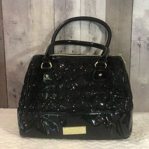 Betsey Johnson black sequin handbag